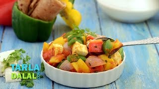 Coloured Capsicum And Paneer Subzi (healthy Subzi) By Tarla Dalal