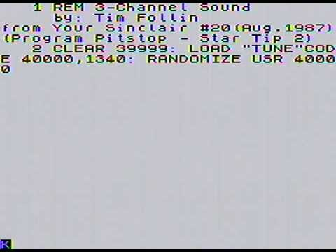 ZX Spectrum 1-bit music: Startip 2 (Tim Follin, 1987)