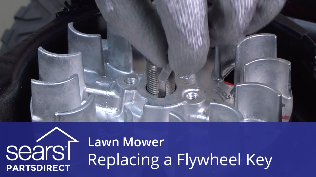 replacing the flywheel key on a lawn mower youtube