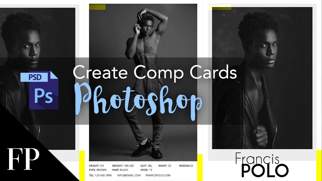 Model Comp Card with Adobe Photoshop + FREE Template With Regard To Download Comp Card Template