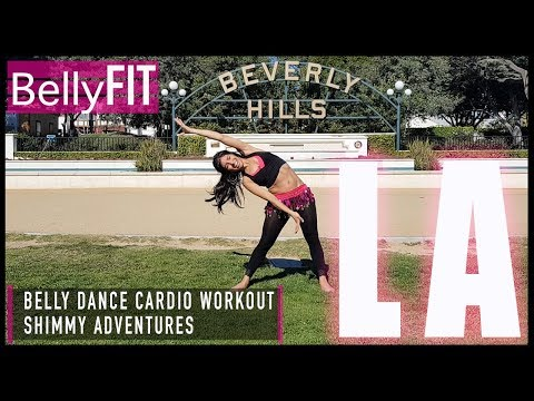 THE BEVERLY HILLS BELLY DANCE WORKOUT! | Shimmy Adventures