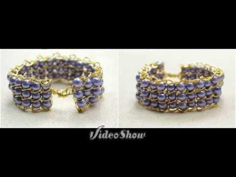 Браслет из бусин и цепочки мастер-класс.The bracelet beads and chains master-class