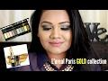 Easy Blue & Gold Smokey Eye Using L'oreal Gold Eyeshadow Palette & Gold Lipstick | Salvi Trivedi