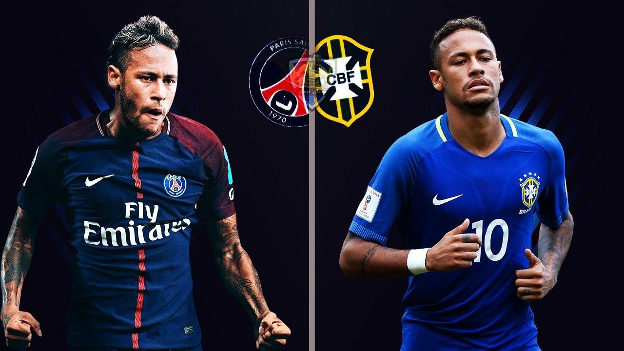 نيمار مع باريس vs نيمار مع البرازيل ● مهارات واهداف خيالية | 2018 HD