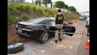 Graças a Deus apenas danos materiais ! o camaro é muito forte e per...