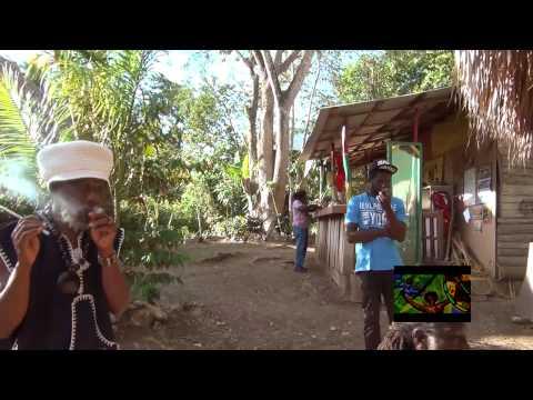 Drumming in Rasta village
