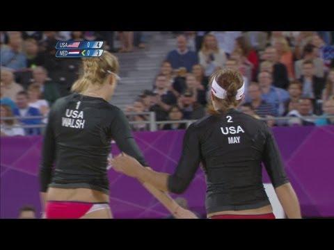 Women's Beach Volleyball Round of 16 - USA v NED | London 2012 Olympics