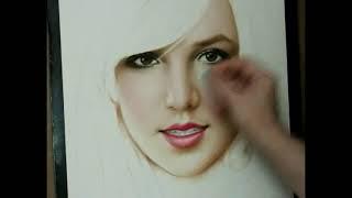 Vẽ tốc độ Britney Spears / nhận ký họa chân dung / 01655 56 70 42 / YouTube.flv