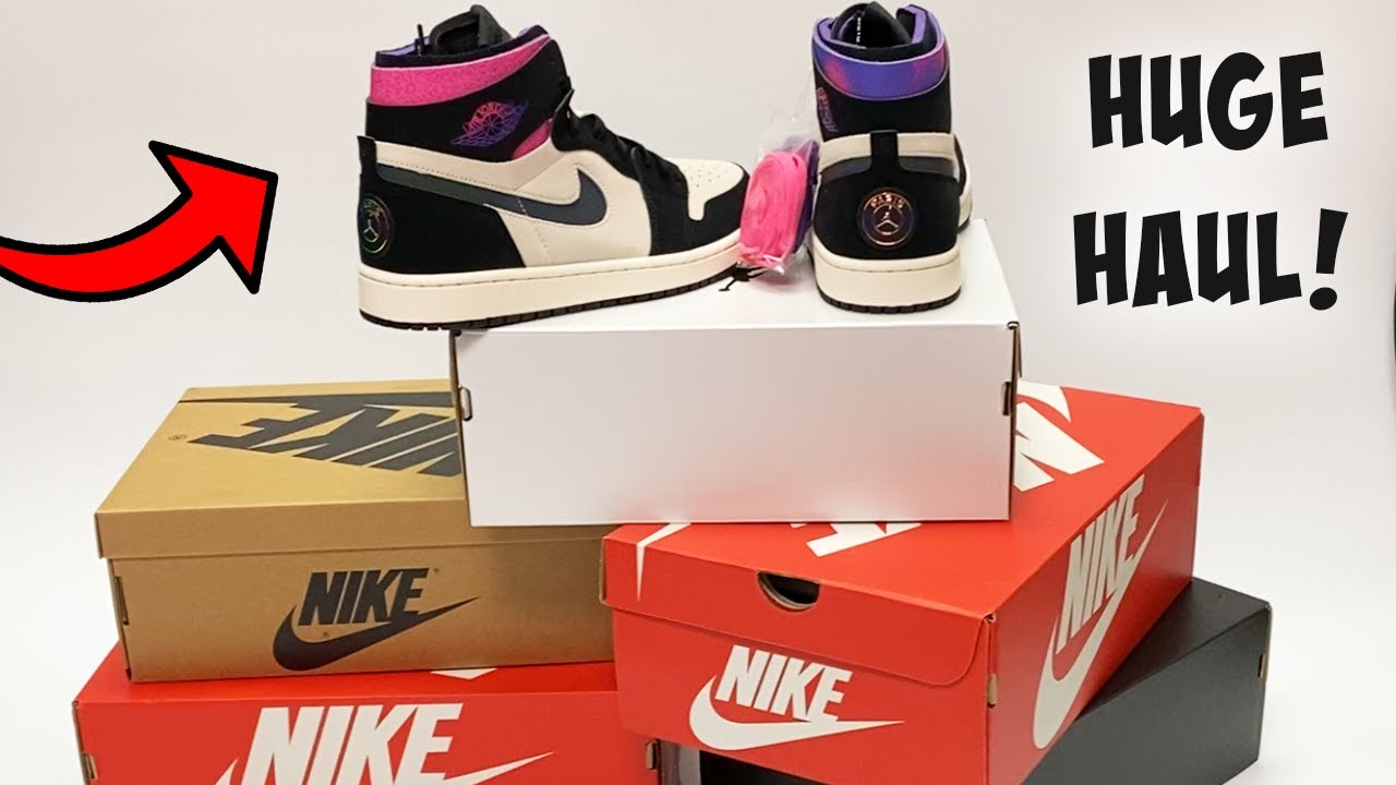 jordan 1 zoom comfort psg on feet and 5 sold out pickups