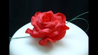 Роза для торта своими руками