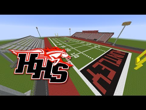Huntley High School Football Field in Minecraft