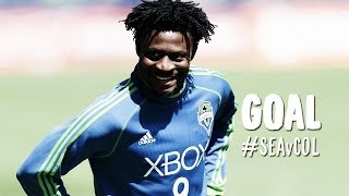 GOAL: Obafemi Martins curls in the dagger | Seattle Sounders vs Colorado Rapids