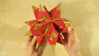 Bascetta Stern: Anleitung für Origami Stern - Weihnachtssterne Ideen - Faltanleitung - DIY