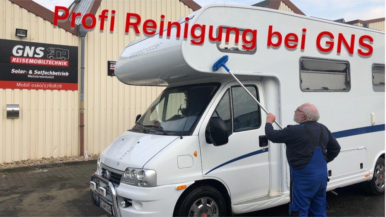 Profi-Reinigung und Glanzversiegelung – Wohnmobil Dethleffs Esprit – bei  GNS Reisemobiltechnik