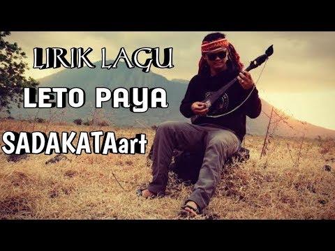 LIRIK LAGU KARO TERBARU LETO PAYA - SADAKATAart