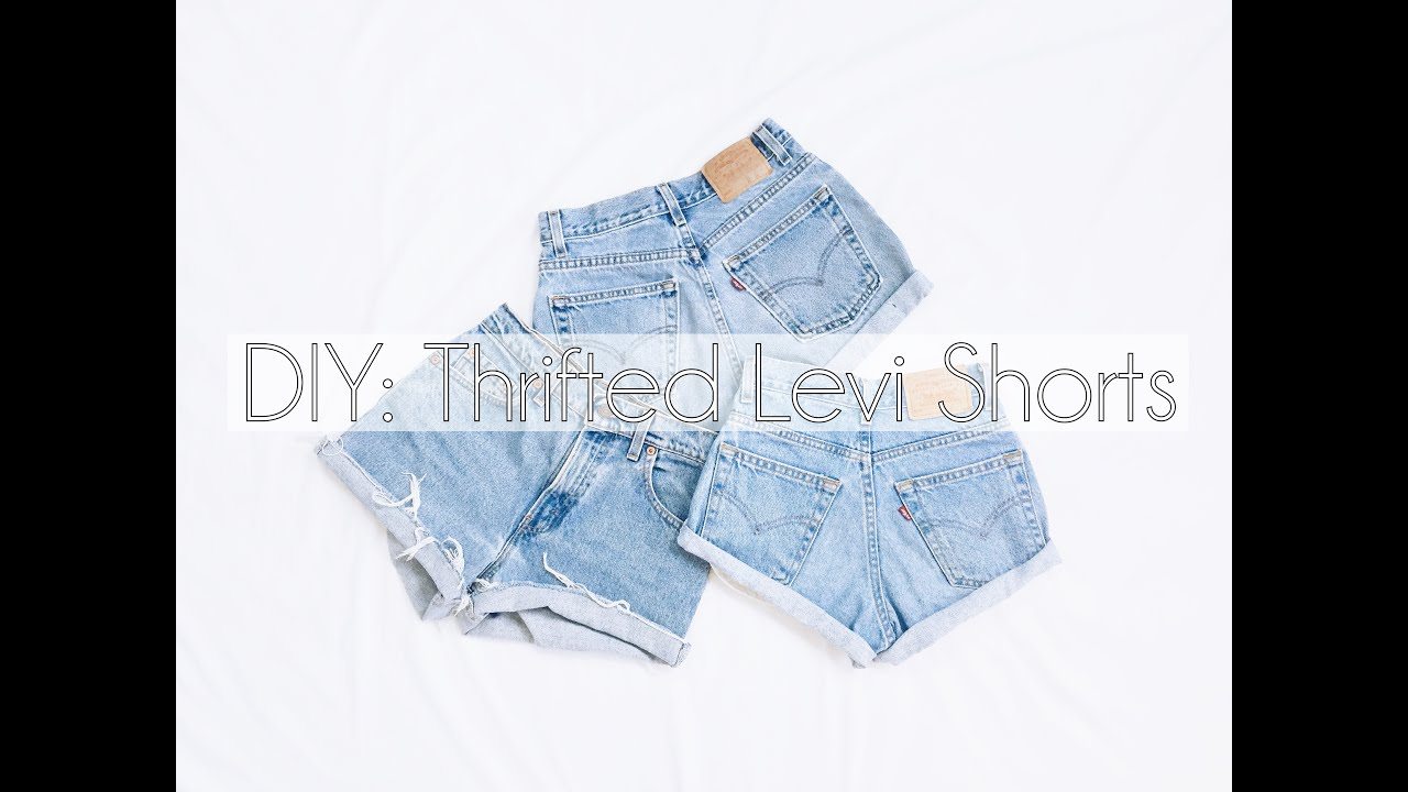 59020d2f DIY: High Waisted Shorts (Thrifted Levi's) - YouTube