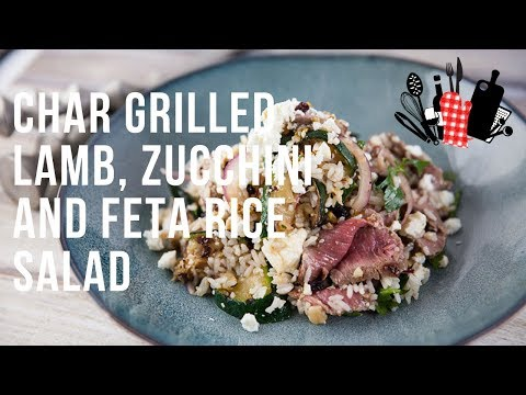 char-grilled-lamb,-zucchini-and-feta-rice-salad-|-everyday-gourmet-s9-ep49