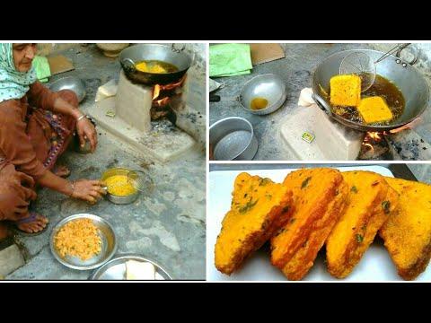 BREAD PAKORA Recipe grandma village food || BREAD PAKODE || VILLAGE GRANDMA STYLE PUNJABI FOOD