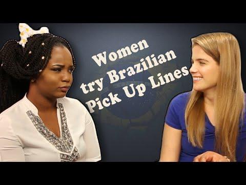 Women Try Brazilian Pick Up Lines On Men