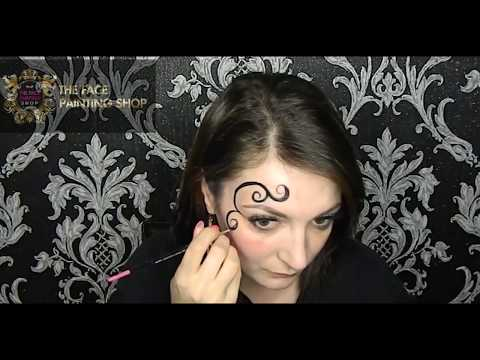 Festival Swirls And Glitter Face Painting Tutorial