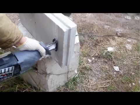 Обработка пазогребневой плиты сабельной пилой