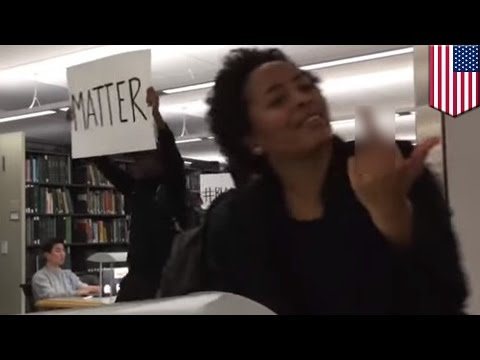 Black Lives Matter protesters harass students studying in Dartmouth University library- TomoNews