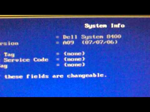 DELL Dimension 8400 BIOS Clock Goes Nuts