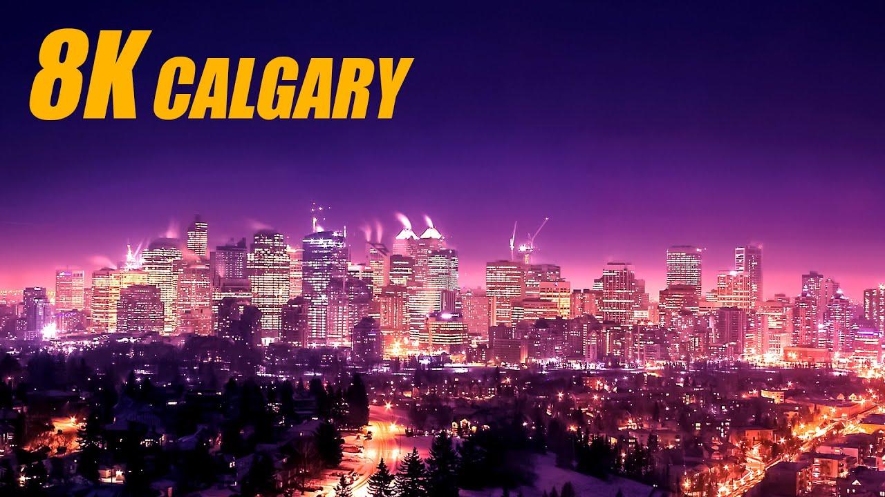 Calgary, Canada in 8K HDR 60FPS DEMO
