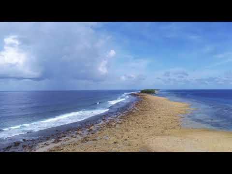 【4K】South Point of Funafuti Island in Tuvalu:Shooting by ANAFI 4K Drone