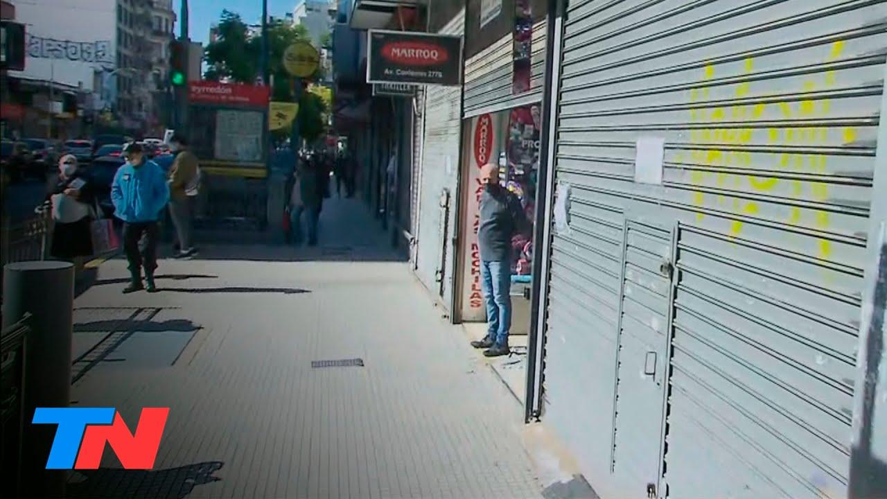 Los comerciantes de Once se rebelan contra la cuarentena: piden abrir sus negocios y atienden igual