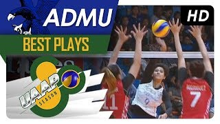 UAAP 80 WV: Ponggay Gaston smashes through the double block! | ADMU | Best Plays