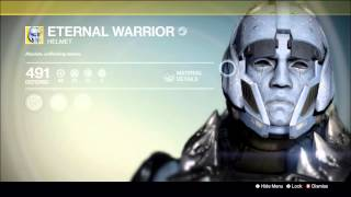 "Destiny  Eternal Warrior Helmet ""Exotic"" Legendary Engram House of Wolves...what the fuck!"