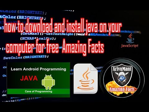 how to download and install java on your computer for free  Amazing Facts