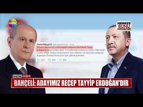 """Bahçeli: """"Adayımız Recep Tayyip Erdoğan'dır"""""""