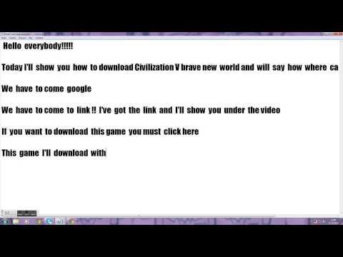 How  to download Civilization V brave  new world 2014