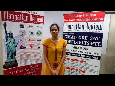 MS Admission Services - Manhattan Student Testimonial   Spandana