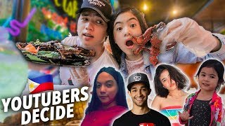 Youtubers Decide What We Eat For 24 HOURS!! | Ranz and Niana
