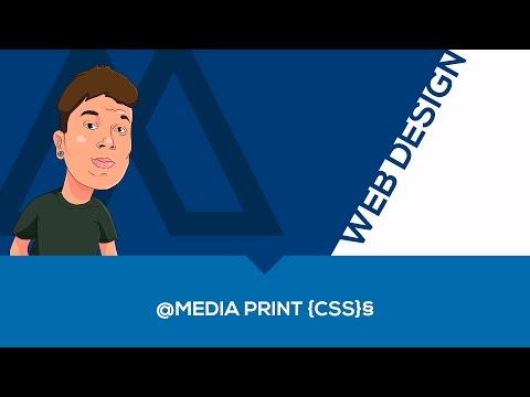 @MEDIA PRINT {CSS} - HTML E CSS (INICIANTE)
