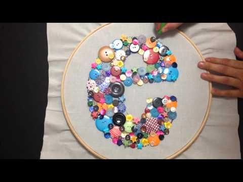 Cuadro de botones chuladas creativas sammily youtube - Cuadros con botones ...
