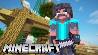 Building Think's Lab in Minecraft: Survival (Noodle Planet)!!