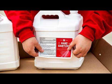 Hand Sanitizer Production at Nebraska Innovation Campus