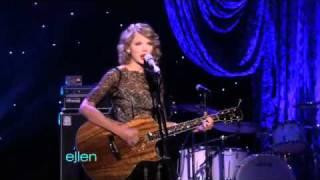 Taylor Swift Sings Mine On The Ellen Show (11/1/10)