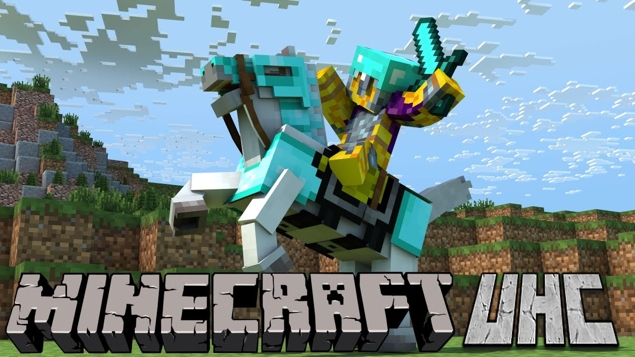 Beating up my friends in Minecraft UHC