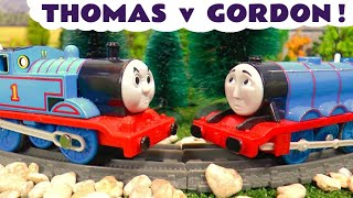 Thomas The Tank Engine v Thomas and Friends Gordon Toy Train Story with Funlings