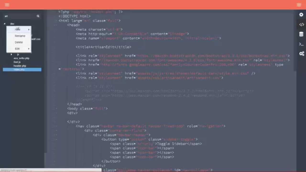 Artisanedit An Open Source Code Editor For Laravel