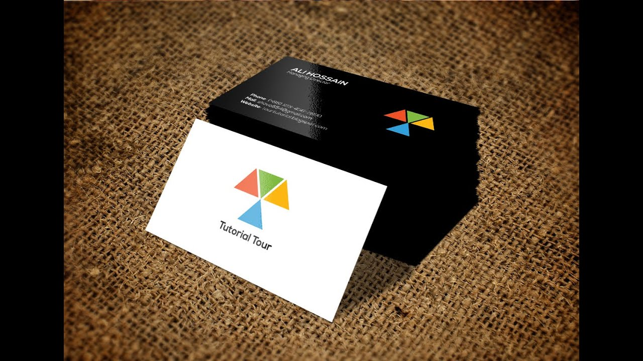 Make a Business card with Illustrator - YouTube