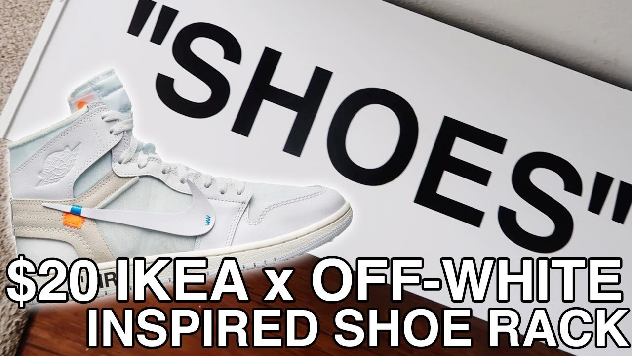 20 IKEA x OFF-WHITE DIY SHOE RACK! - YouTube 83eda61b2