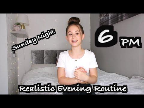 Realistic Sunday EVENING Routine | GRWM for a School week!