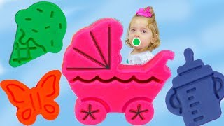 APRENDENDO CORES COM PLAY DOH Learn colors with play doh playdough kids toys for children or babies