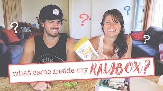 I HAD NO IDEA WHAT WOULD BE IN MY BOX! // DREW TASTE TESTS MY RAWBOX